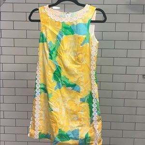 Lilly Pulitzer Yellow Floral Dress